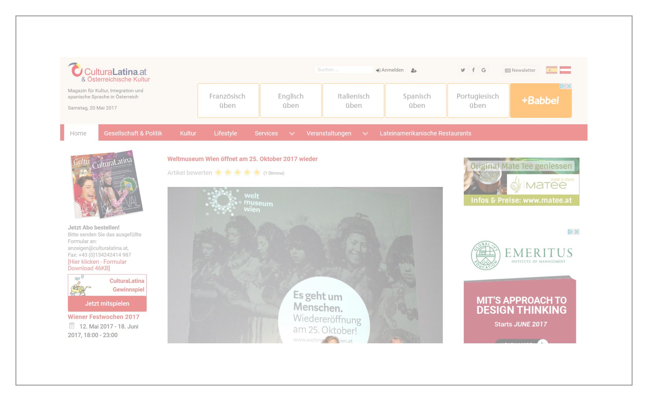 Onlinemagazin CulturaLatina.at