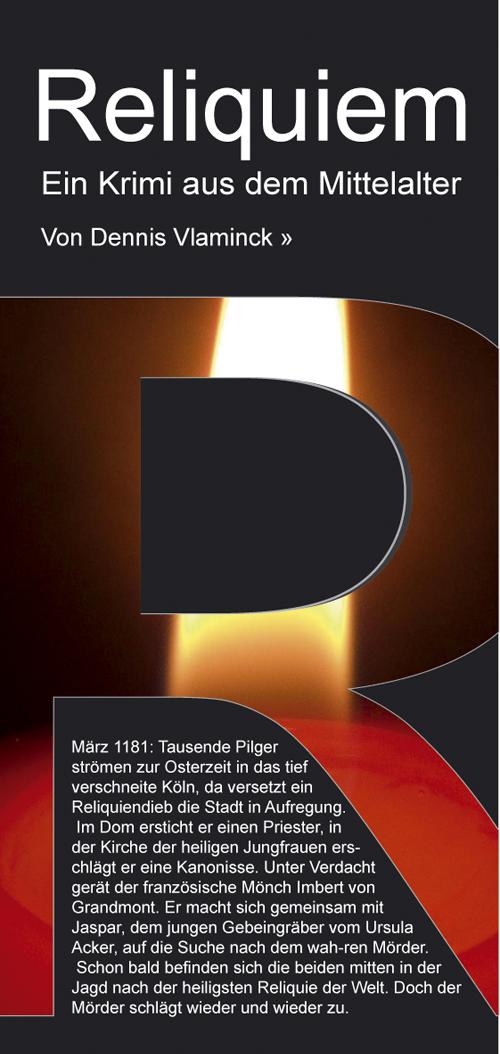 Flyer Gestaltung Buch Reliquiem